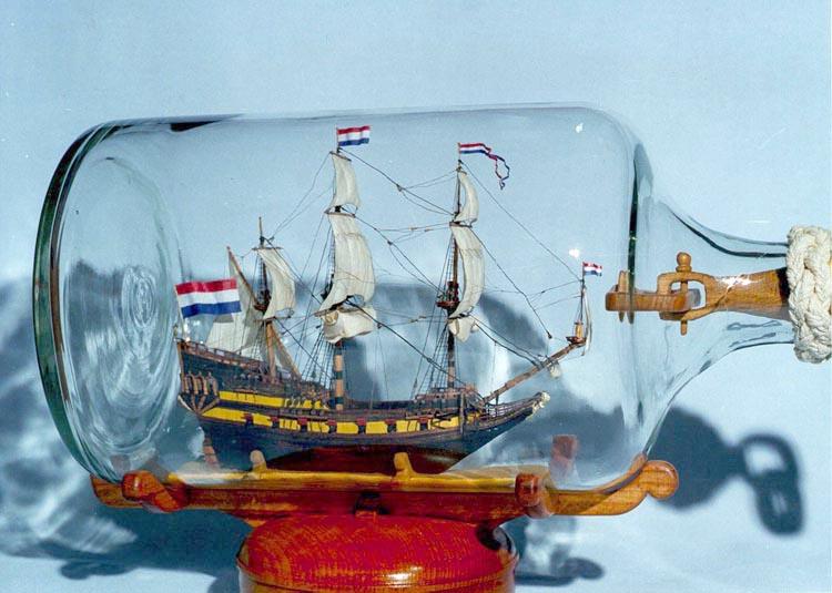 Корабль из бутылки своими руками фото